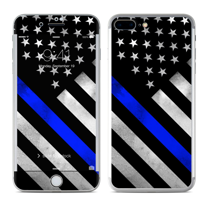 on sale ca892 83f88 Apple iPhone 7 Plus Skin - Thin Blue Line Hero by DecalGirl Collective