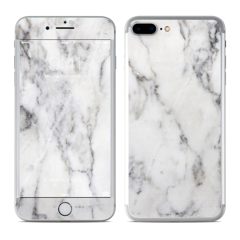 Apple iphone 7 plus skin white marble