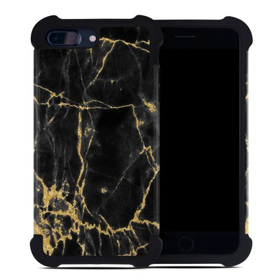 Apple iPhone 7 Plus Bumper Case - Black Gold Marble