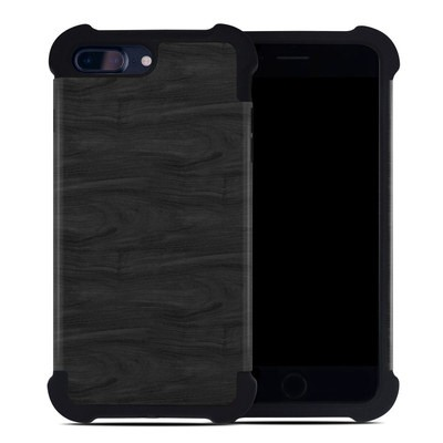 Apple iPhone 7 Plus Bumper Case - Black Woodgrain