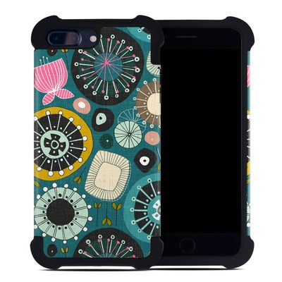 Apple iPhone 7 Plus Bumper Case - Blooms Teal