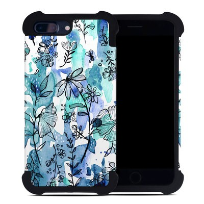 Apple iPhone 7 Plus Bumper Case - Blue Ink Floral