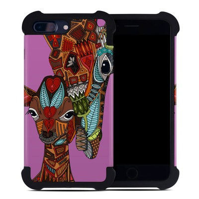 Apple iPhone 7 Plus Bumper Case - Giraffe Love