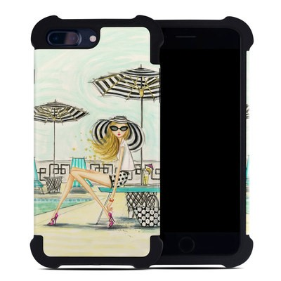 Apple iPhone 7 Plus Bumper Case - Luxe Retreat Poolside