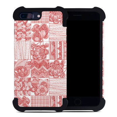 Apple iPhone 7 Plus Bumper Case - Red Quilt