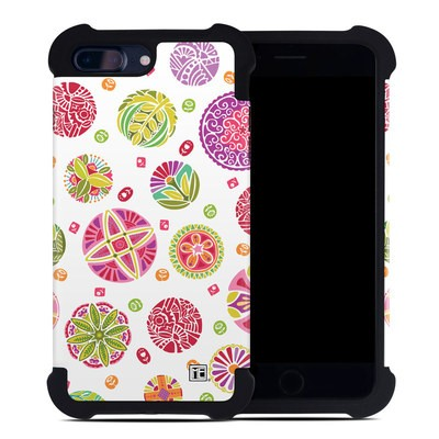 Apple iPhone 7 Plus Bumper Case - Round Flowers