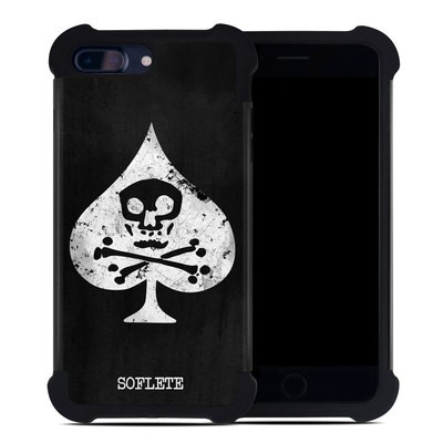 Apple iPhone 7 Plus Bumper Case - SOFLETE Grunge Logo