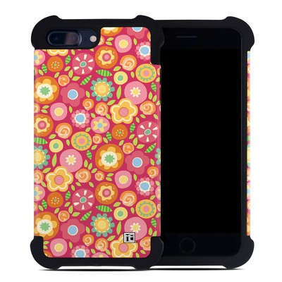 Apple iPhone 7 Plus Bumper Case - Flowers Squished