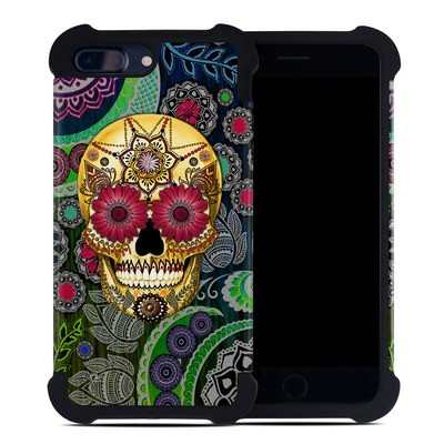Apple iPhone 7 Plus Bumper Case - Sugar Skull Paisley