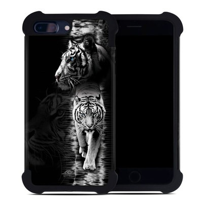 Apple iPhone 7 Plus Bumper Case - White Tiger