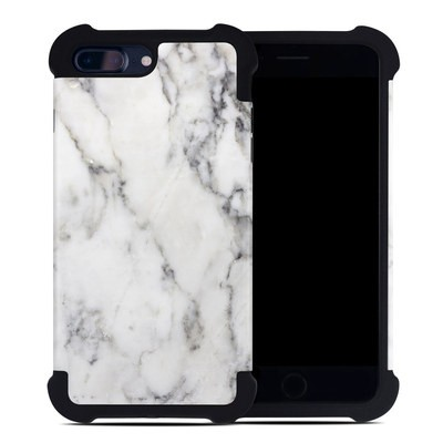 Apple iPhone 7 Plus Bumper Case - White Marble
