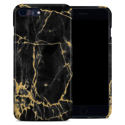 Apple iPhone 7 Plus Clip Case - Black Gold Marble