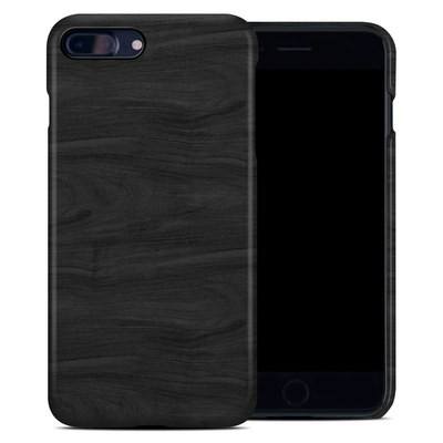 Apple iPhone 7 Plus Clip Case - Black Woodgrain