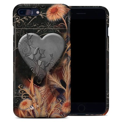 Apple iPhone 7 Plus Clip Case - Black Lace Flower