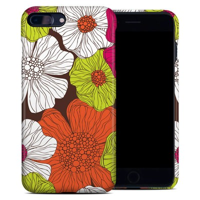 Apple iPhone 7 Plus Clip Case - Brown Flowers