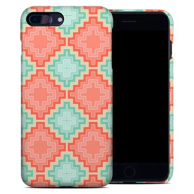 Apple iPhone 7 Plus Clip Case - Coral Diamond