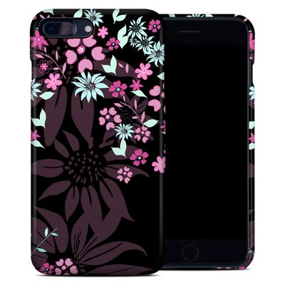 Apple iPhone 7 Plus Clip Case - Dark Flowers