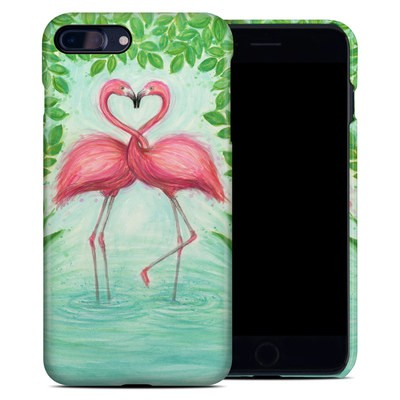 Apple iPhone 7 Plus Clip Case - Flamingo Love