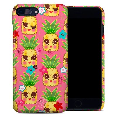 Apple iPhone 7 Plus Clip Case - Happy Kawaii Pineapples