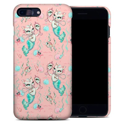 Apple iPhone 7 Plus Clip Case - Merkittens with Pearls Blush