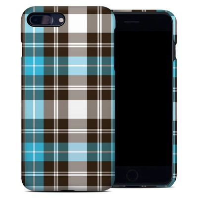 Apple iPhone 7 Plus Clip Case - Turquoise Plaid