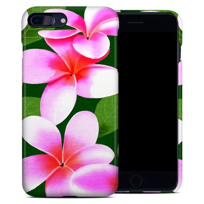 Apple iPhone 7 Plus Clip Case - Pink Plumerias