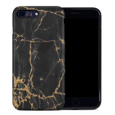 Apple iPhone 7 Plus Hybrid Case - Black Gold Marble
