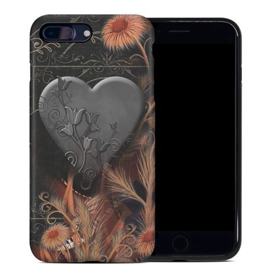 Apple iPhone 7 Plus Hybrid Case - Black Lace Flower
