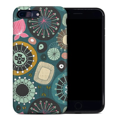 Apple iPhone 7 Plus Hybrid Case - Blooms Teal