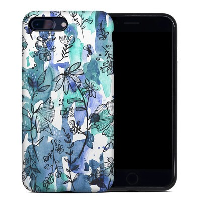 Apple iPhone 7 Plus Hybrid Case - Blue Ink Floral
