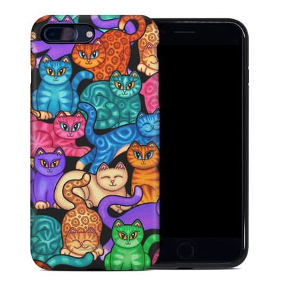 Apple iPhone 7 Plus Hybrid Case - Colorful Kittens