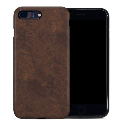 Apple iPhone 7 Plus Hybrid Case - Dark Burlwood
