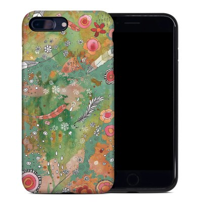 Apple iPhone 7 Plus Hybrid Case - Feathers Flowers Showers