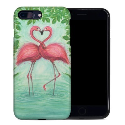 Apple iPhone 7 Plus Hybrid Case - Flamingo Love