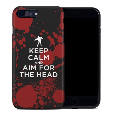 Apple iPhone 7 Plus Hybrid Case - Keep Calm - Zombie