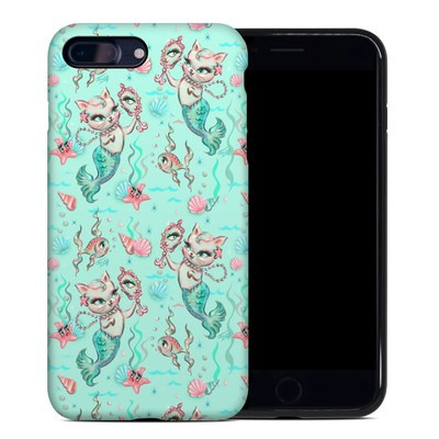 Apple iPhone 7 Plus Hybrid Case - Merkittens with Pearls Aqua
