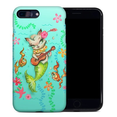 Apple iPhone 7 Plus Hybrid Case - Merkitten with Ukelele