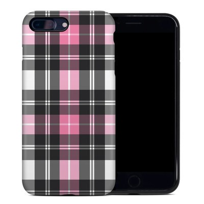 Apple iPhone 7 Plus Hybrid Case - Pink Plaid