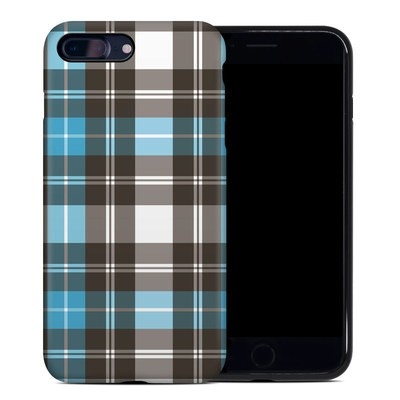 Apple iPhone 7 Plus Hybrid Case - Turquoise Plaid