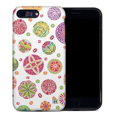 Apple iPhone 7 Plus Hybrid Case - Round Flowers