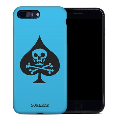 Apple iPhone 7 Plus Hybrid Case - SOFLETE Blue Logo
