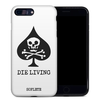 Apple iPhone 7 Plus Hybrid Case - SOFLETE Die Living White