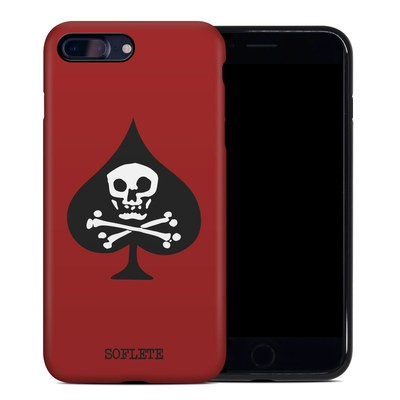 Apple iPhone 7 Plus Hybrid Case - SOFLETE Red Logo