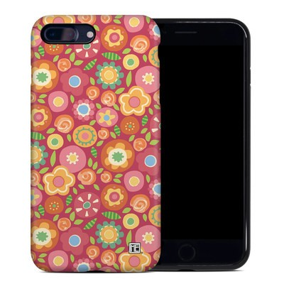 Apple iPhone 7 Plus Hybrid Case - Flowers Squished