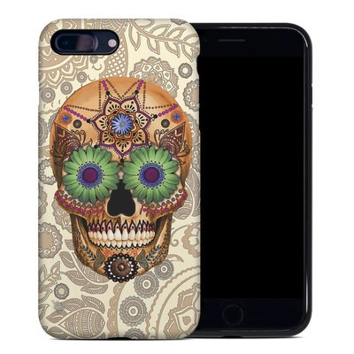 Apple iPhone 7 Plus Hybrid Case - Sugar Skull Bone