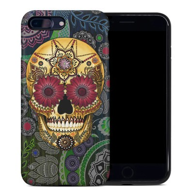 Apple iPhone 7 Plus Hybrid Case - Sugar Skull Paisley