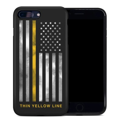 Apple iPhone 7 Plus Hybrid Case - Thin Yellow Line