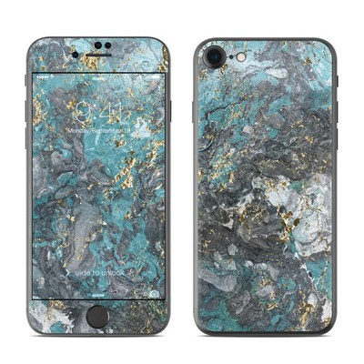 Apple iPhone 8 Skin - Gilded Glacier Marble