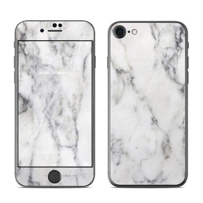 Apple iPhone 8 Skin - White Marble