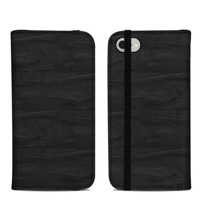 Apple iPhone 8 Folio Case - Black Woodgrain